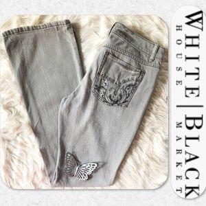 WHBM Gray Blanc Bootcut Jeans